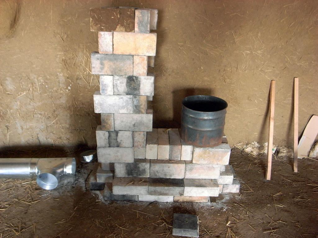 Rocket Stove Insulation : Rocketstove brickwork g complete rocket stove