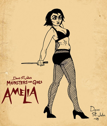Amelia Pin Up poster | by Denis St. John