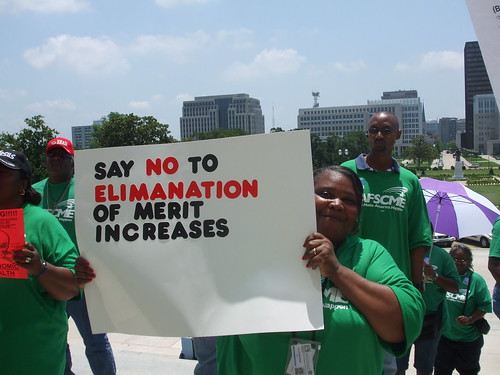 LA: AFSCME rally at the state capitol, Tuesday, May 12, 2009 | by aflcio