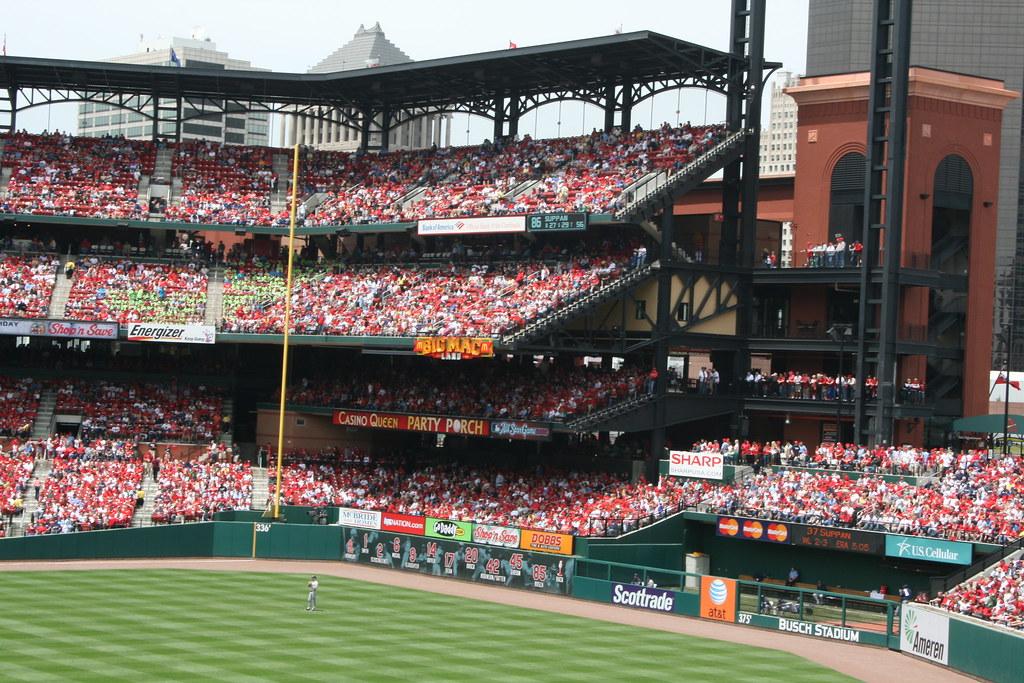 Busch Stadium Left Field Home To Quot Big Mac Land Quot Flickr