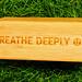 Breathe Deeply - Lululemon Bamboo Yoga Block
