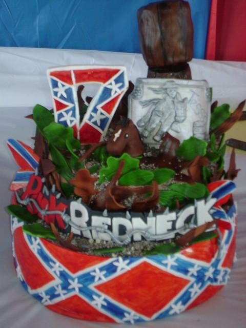 Redneck Rebel Flag Birthday Cakes