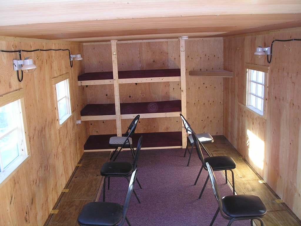Inside 6 man sleeper fish house 6 person sleeper for ice for Lake of the woods ice fishing sleepers