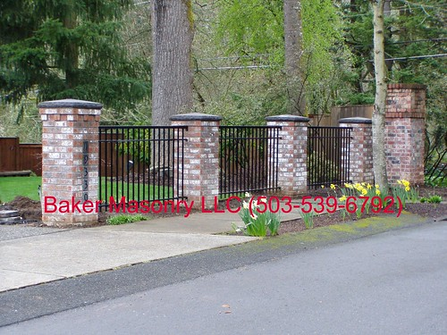 Brick Entry Gate (Baker Masonry LLC 503 539 6792) | by bakermasonry