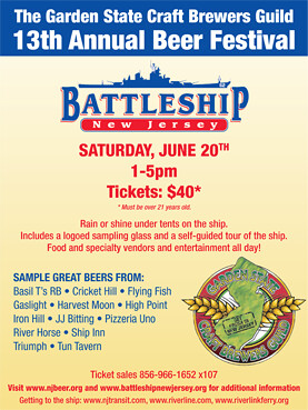13th Annual Garden State Craftbrewers Fest Battleship Nj