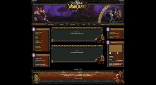Free World Of Warcraft Web2 0 Php Fusion Theme Template