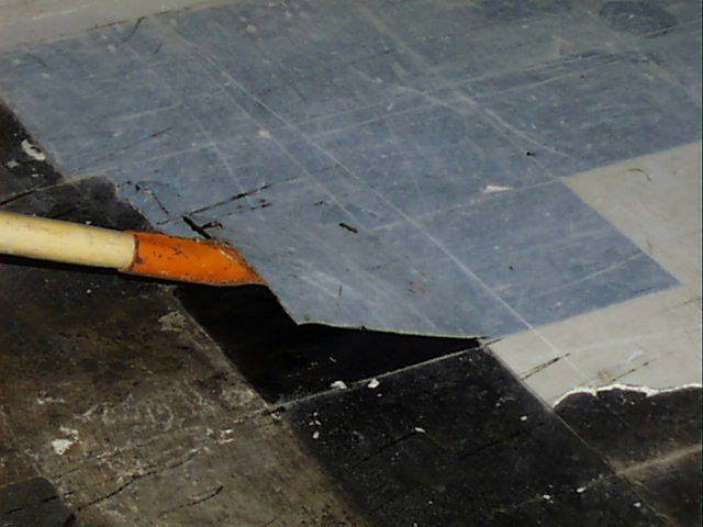 Asbestos Floor Tile Removal Via High Heat Example Of In Flickr