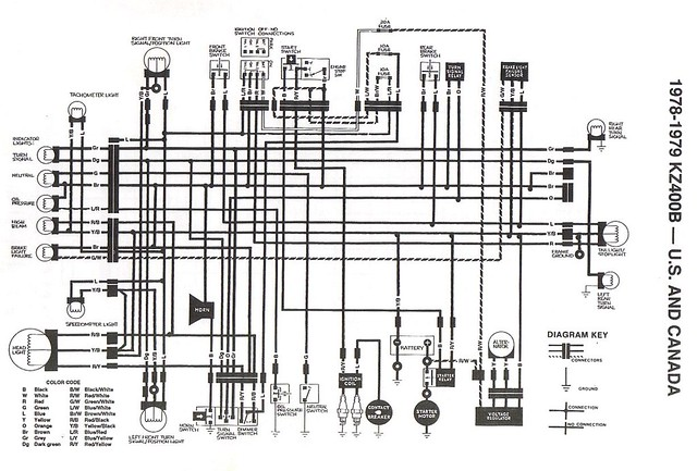 1978 79 kz400 stock wiring diagram original stock wiring d flickr rh flickr com