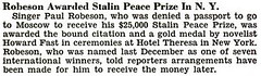 Paul Robeson Awarded Stalin Peace Prize in NYC - Jet Magazine, October 8, 1953 | by vieilles_annonces