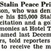 Paul Robeson Awarded Stalin Peace Prize in NYC - Jet Magazine, October 8, 1953