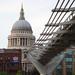 Andrea Maffioli - The Millennium Bridge protrudes out of St Paul's