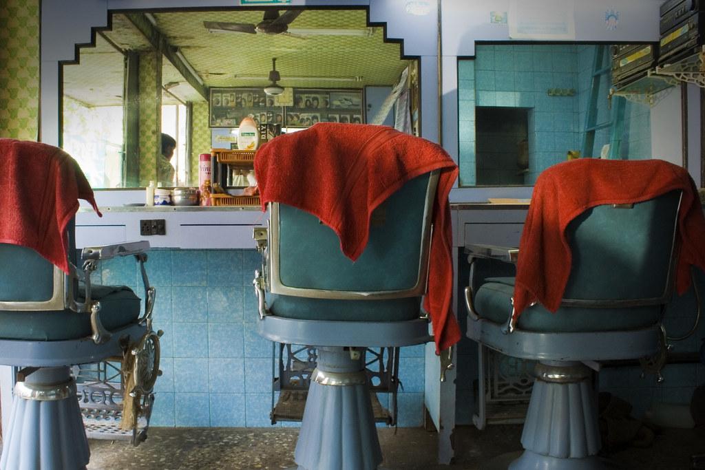 Mumbai barber shop interior a gorgeous colorful barber flickr - Barber shop interior ...