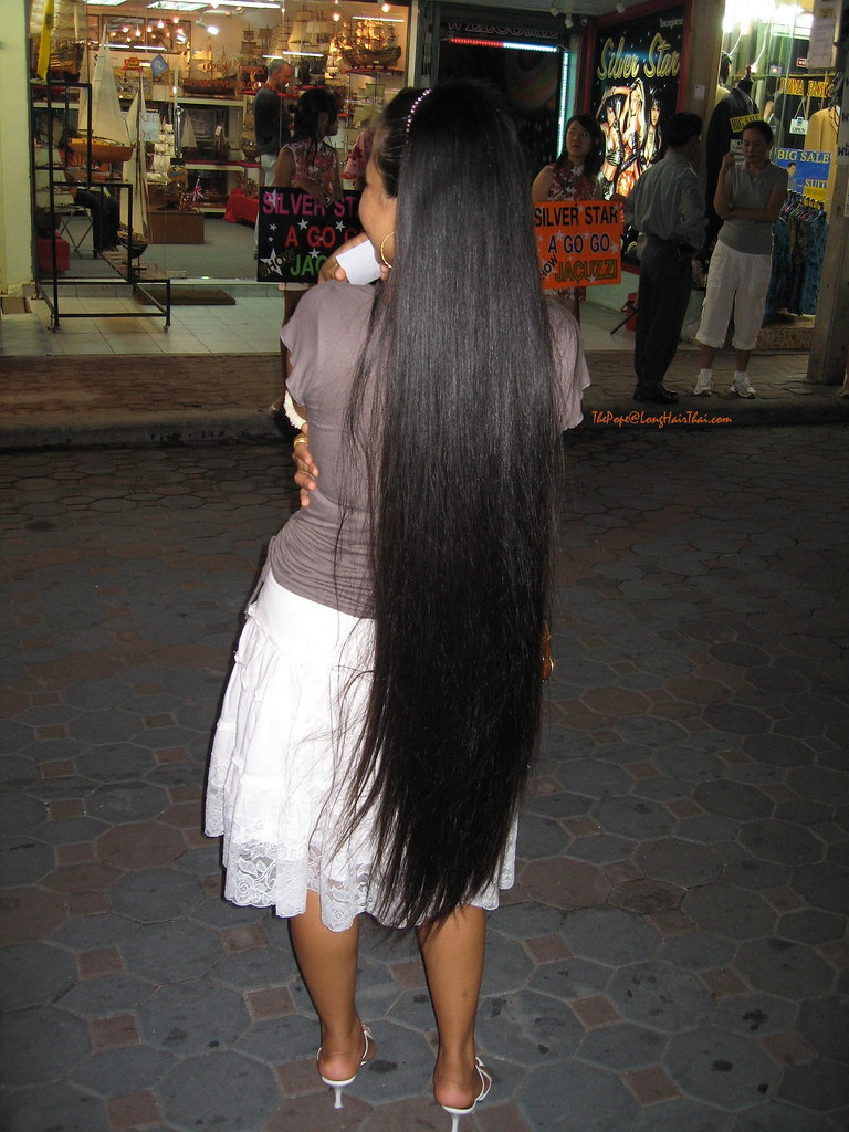 Long Thai Hair On Walking Street The Pope Flickr