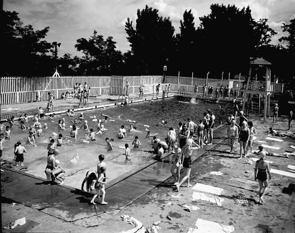 Swimming pool bathers at riverside park howard amon park flickr for Public swimming pools in riverside ca