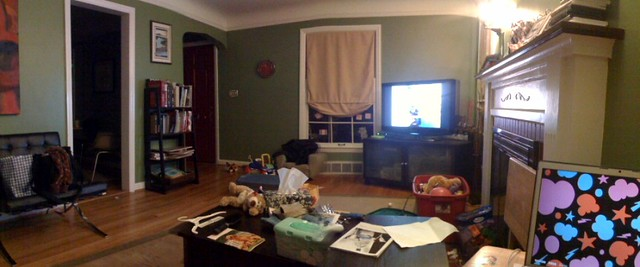 Messy Living Room Watching Arrested Development Jim