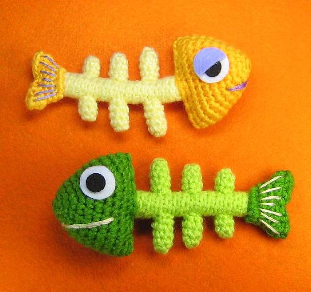 Fishbone Crochet Pattern Free : Fish Bone Skeleton Crochet Pattern Fish bone crochet ...
