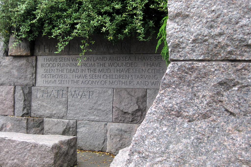 Washington Dc Fdr Memorial 3rd Term Quot I Have Seen War
