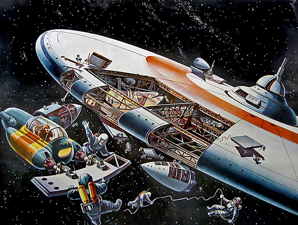 1950 ... assembling a space station! | artist- Klaus ...