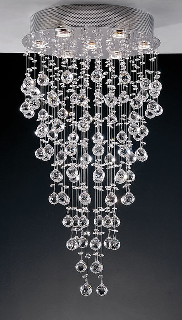 lustre cristal chuva base redonda b esferas de cristal flickr. Black Bedroom Furniture Sets. Home Design Ideas