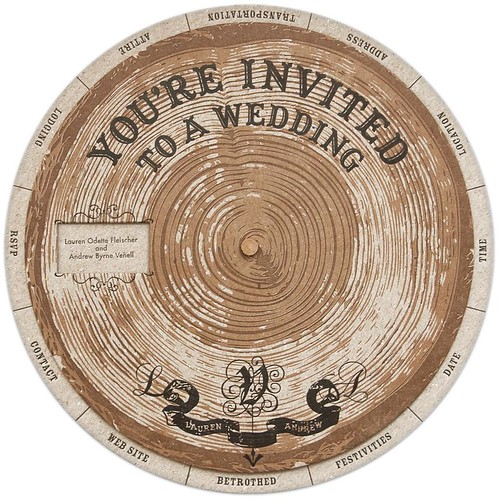DIY wedding invitation wheel | by LaurenVenell