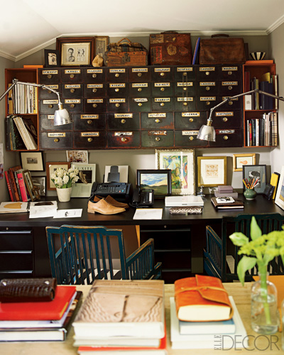 20 Inspiring Home Office Design Ideas For Small Spaces: Ideas For Small Spaces: Vintage Apothecary Cabinet For Sto