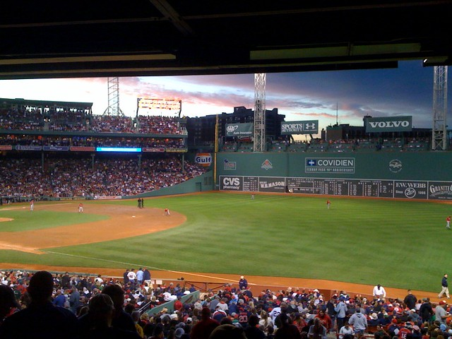 View From Right Field Grandstand At Fenway