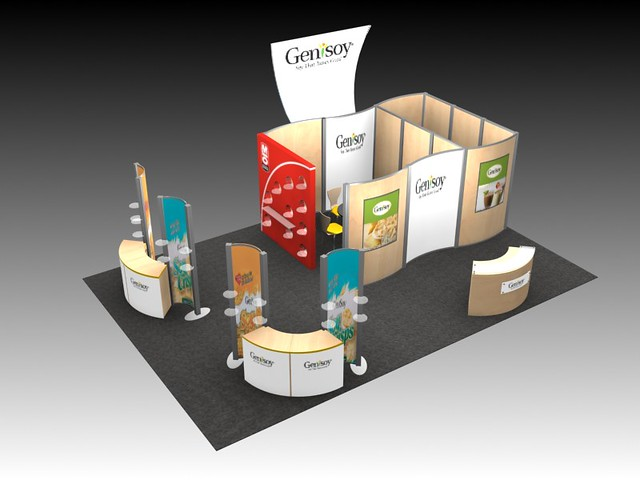 Trade Show Booth Builders : Island exhibit for trade show booth buy custom