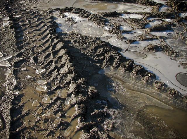 Mud Tire Tracks tire tracks and mud | ...