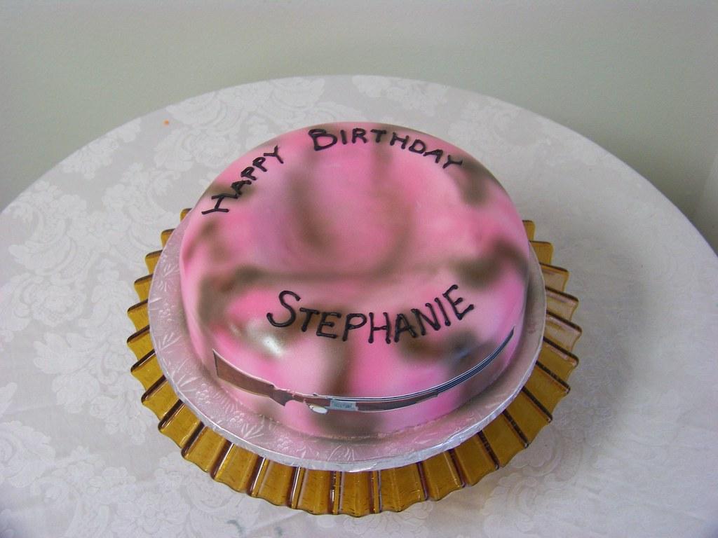 Peachy Pink Camo Skeet Birthday Cake A 12 Inch Round 2 Layer Ita Flickr Personalised Birthday Cards Paralily Jamesorg