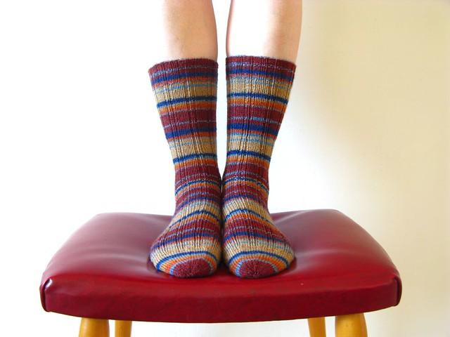 Knitting Vintage Socks Nancy Bush : Oak ribbed sock by nancy bush pattern source knitting