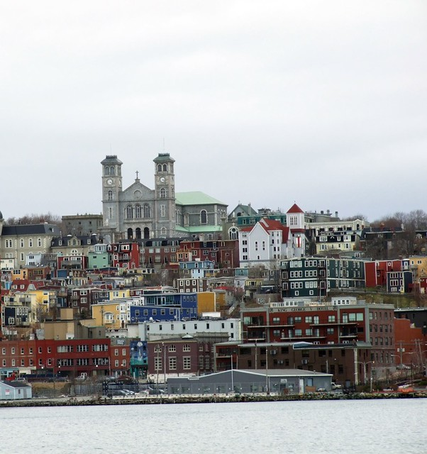 downtown st john 39 s a view of the colorful buildings in. Black Bedroom Furniture Sets. Home Design Ideas