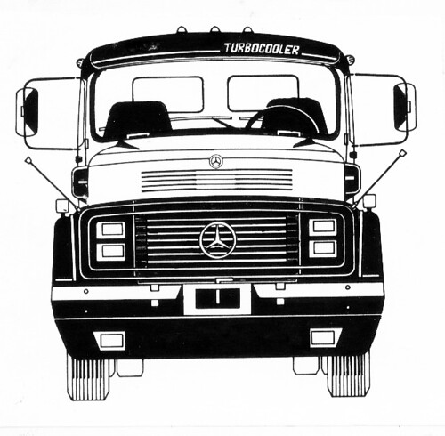 Desenho De Frontal De Caminhão Acabada