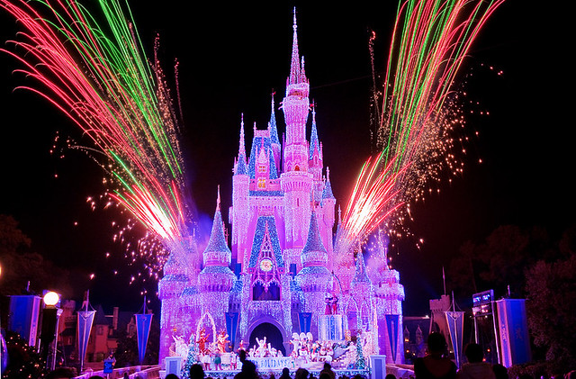 Image result for disneyworld at night