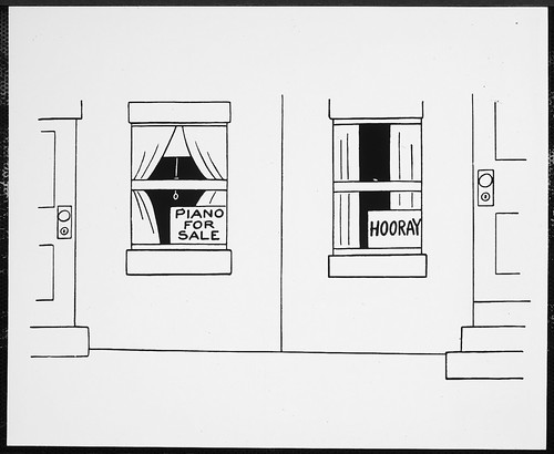 Cartoons Line Drawing Attached Apartments Two Front Do