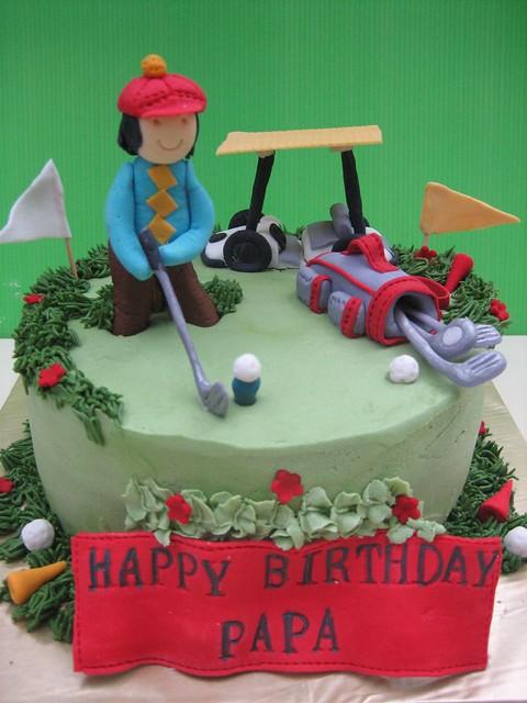 Golfers Birthday cake Anita Flickr