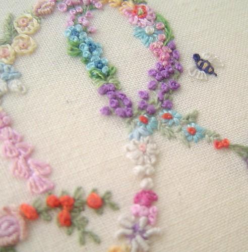 Flower embroidery by ebbandflo pomomama