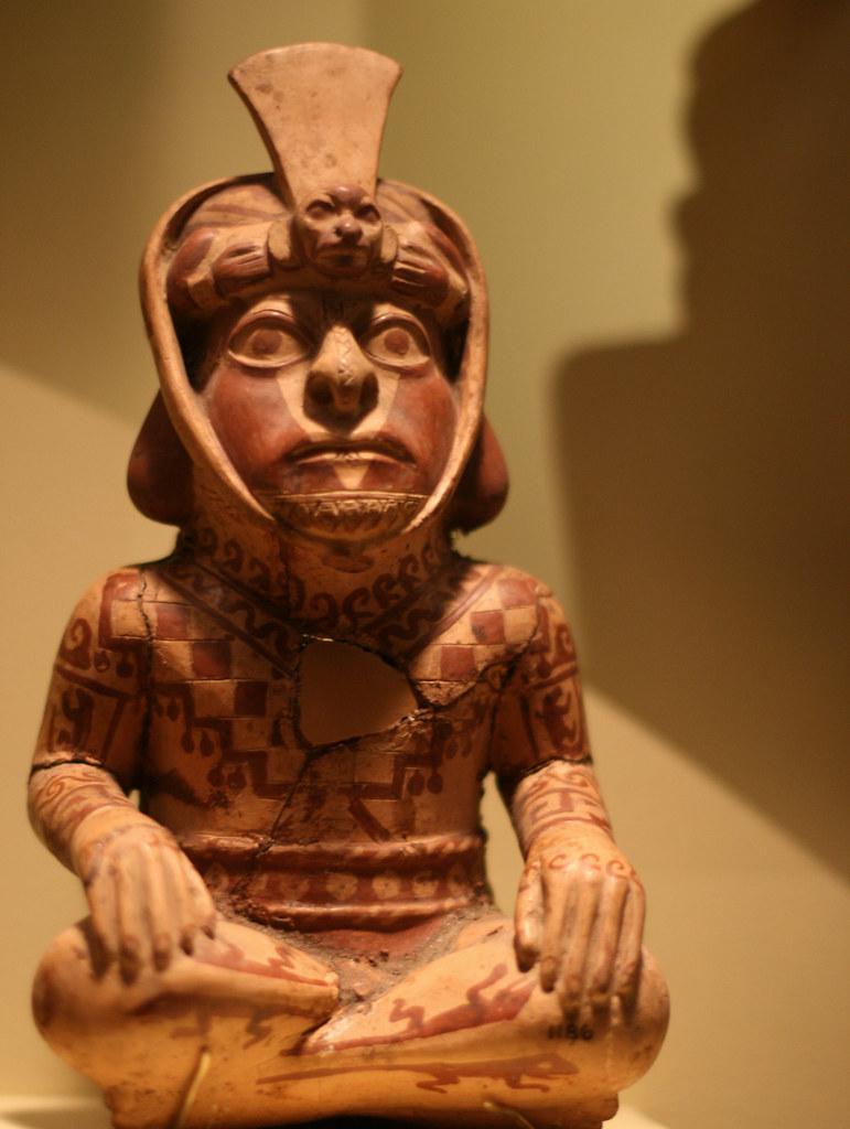 Ceramic Vessel Of Tattooed Priest Moche Ad 100 800 Ancas