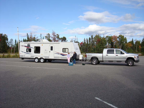 Travel Trailer Our First Outing With Our New Truck And