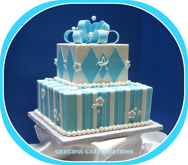 Tiffany Blue And White Baby Shower Cake Flickr Photo