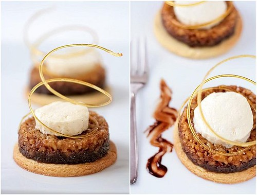 Hazelnut Tartelettes With Spiced Creme Fraiche Parfait | by tartelette