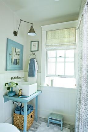 Blue White Beachy Bathroom Farrow Ball Paint Antiqu