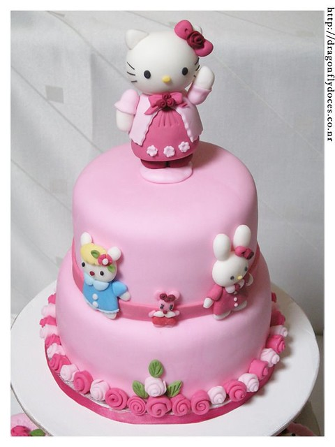 Hello Kitty Cake Bolo A Cake And Cupcakes For A Hello