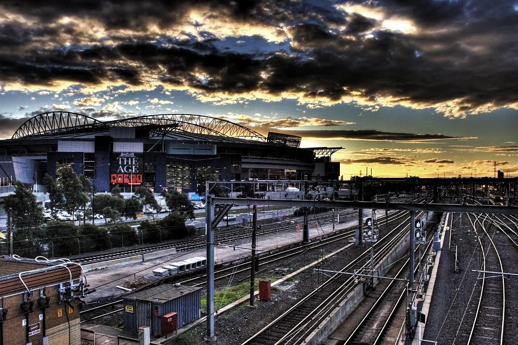 Etihad Stadium Sunset | Adam Selwood | Flickr