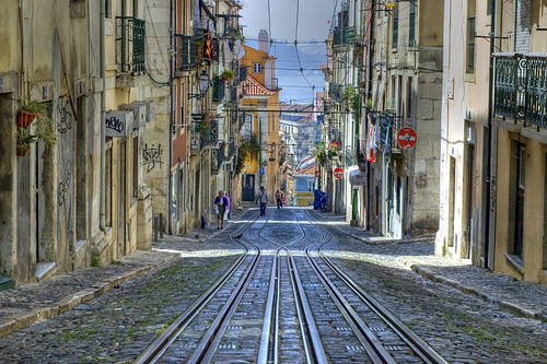 Tram Tracks in Lisbon HDR | by Benjy Wetherall