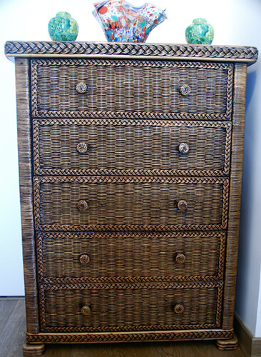 Natural wicker chest of drawers ruffle blossom flickr