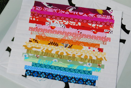 Rainbow Bits Block:Cottage Quilting Bee | by Sew Katie Did