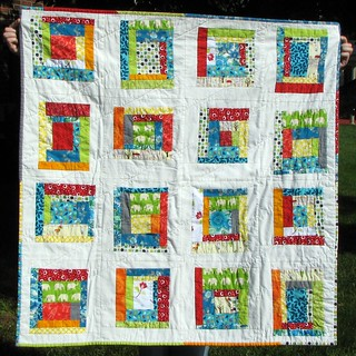 Log Cabin Baby Quilt | by [meggie]