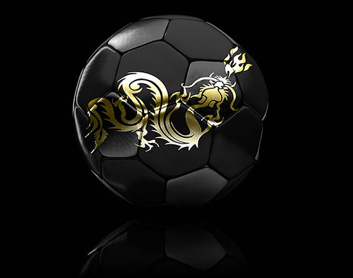 Dragon Soccer Ball 3D render | Soccer ball with dragon ...