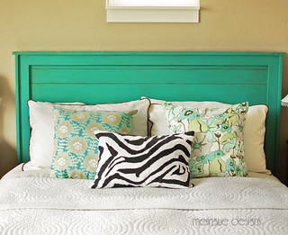 turquoise headboard | by meringuedesigns