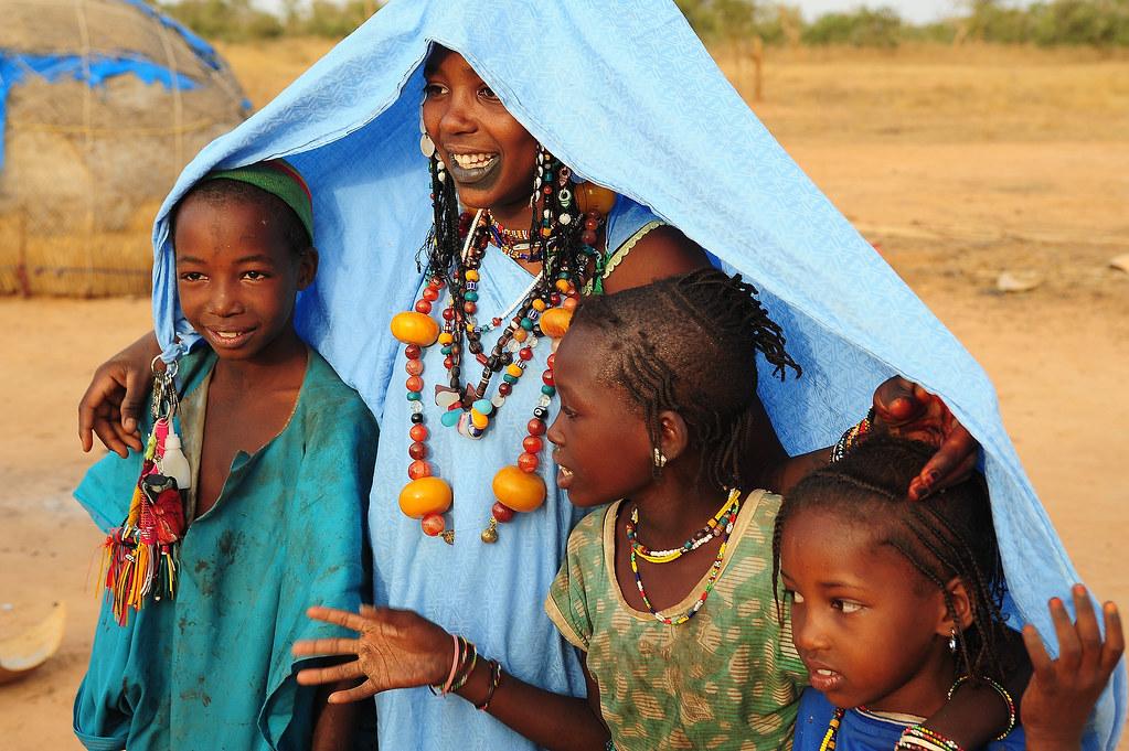 Peul Family In The Bush Near Mauritania Luca Gargano